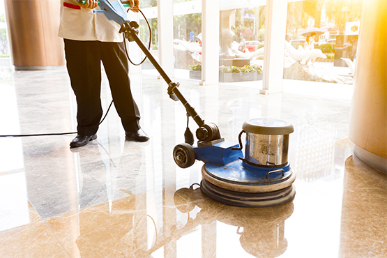 Commercial Cleaning - floor polishing