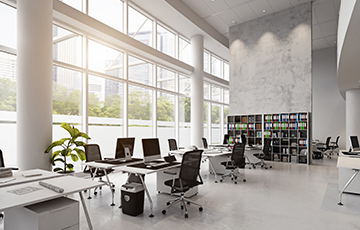 A clean commercial office